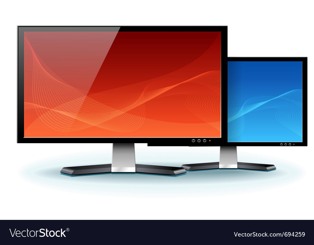 Computer flat lcd plasma monitor vector | Price: 1 Credit (USD $1)