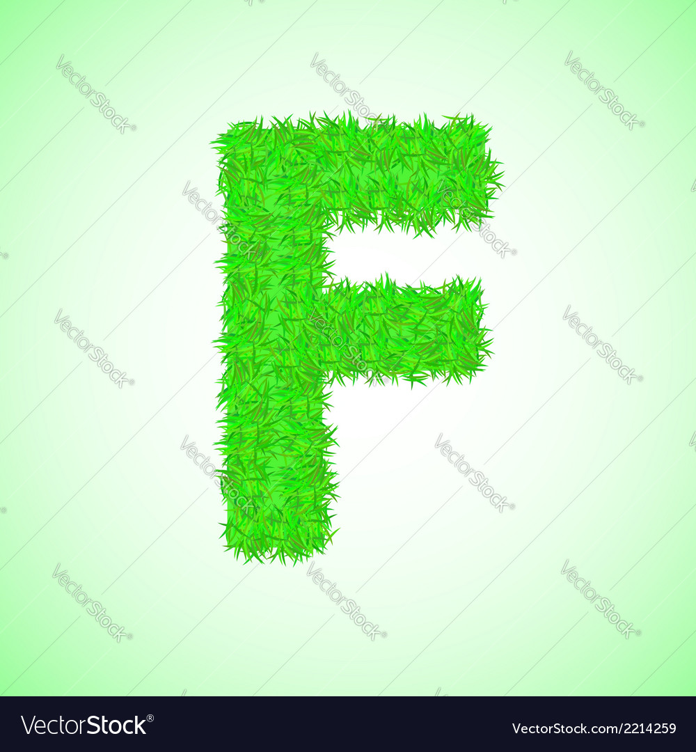 Grass letter f vector | Price: 1 Credit (USD $1)