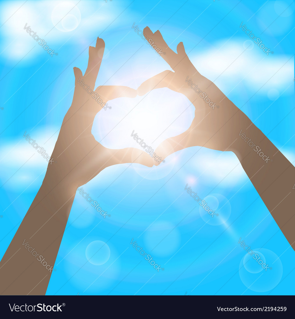 Hands in the form of heart on the background of vector | Price: 1 Credit (USD $1)