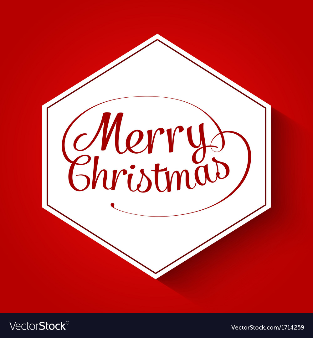 Merry christmas typographic greeting card vector | Price: 1 Credit (USD $1)