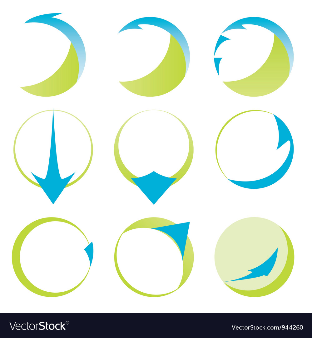 Abstract ribbons and arrows icons vector | Price: 1 Credit (USD $1)