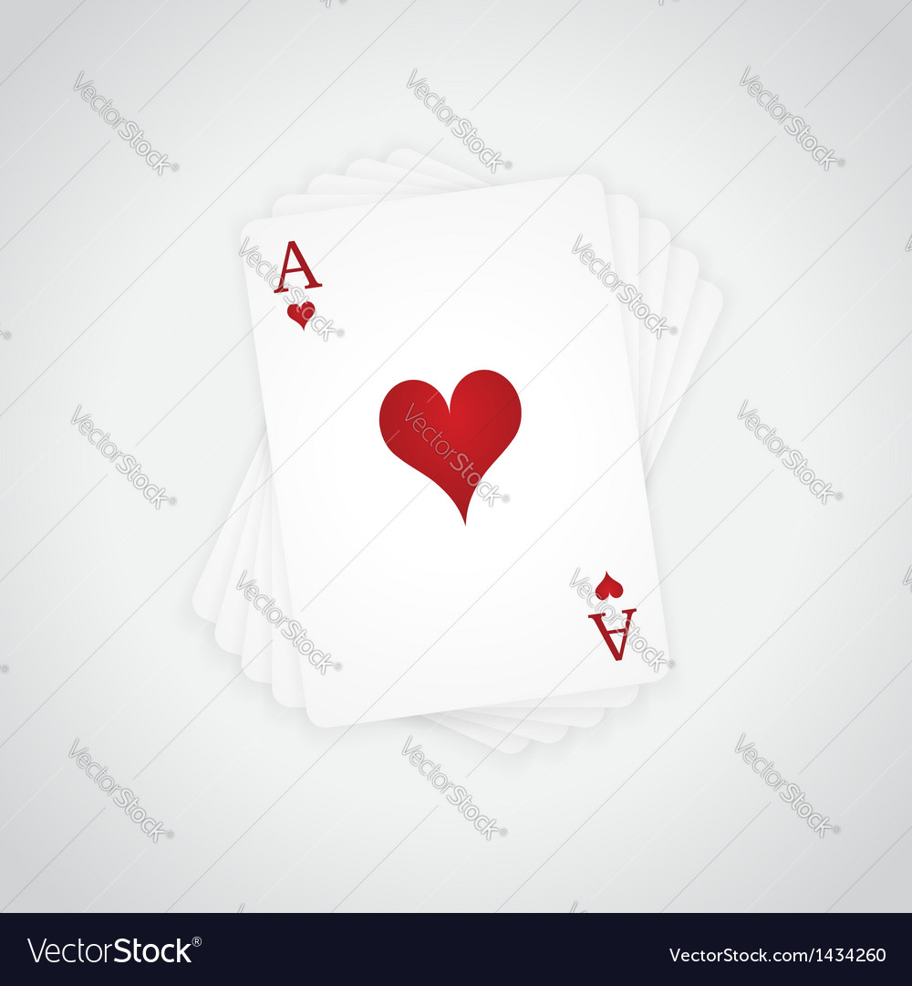 Ace of hearts vector | Price: 1 Credit (USD $1)