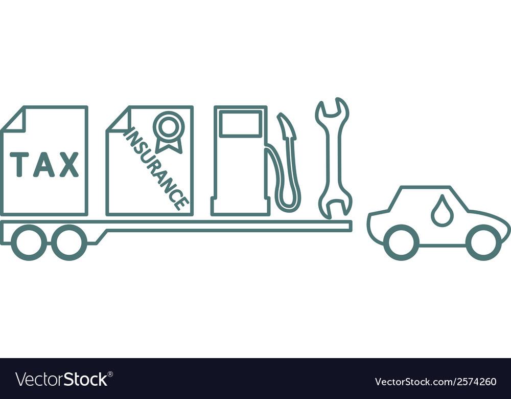 Car costs vector | Price: 1 Credit (USD $1)