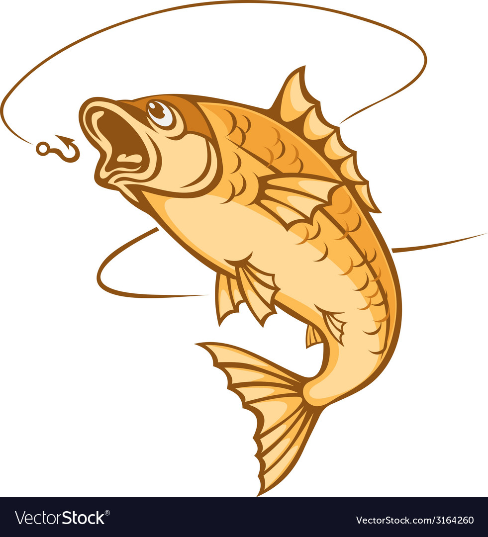 Catch a fish vector | Price: 1 Credit (USD $1)