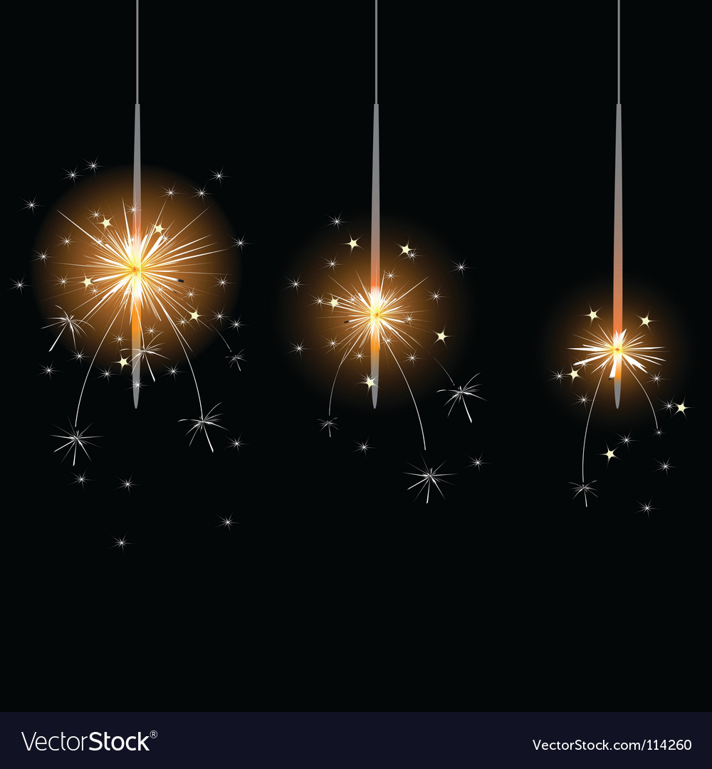 Flame sparkler vector | Price: 1 Credit (USD $1)