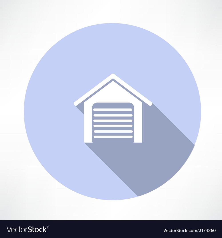 Garage icon vector   Price: 1 Credit (USD $1)