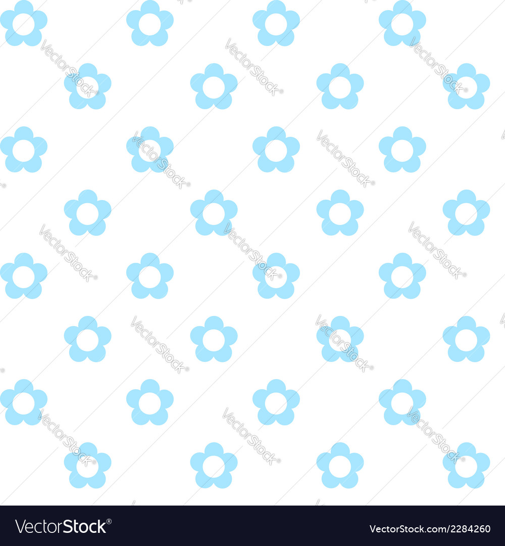 Light blue flowers seamless pattern fabric texture vector | Price: 1 Credit (USD $1)