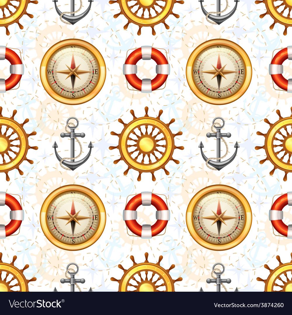 Marine seamless pattern vector | Price: 1 Credit (USD $1)