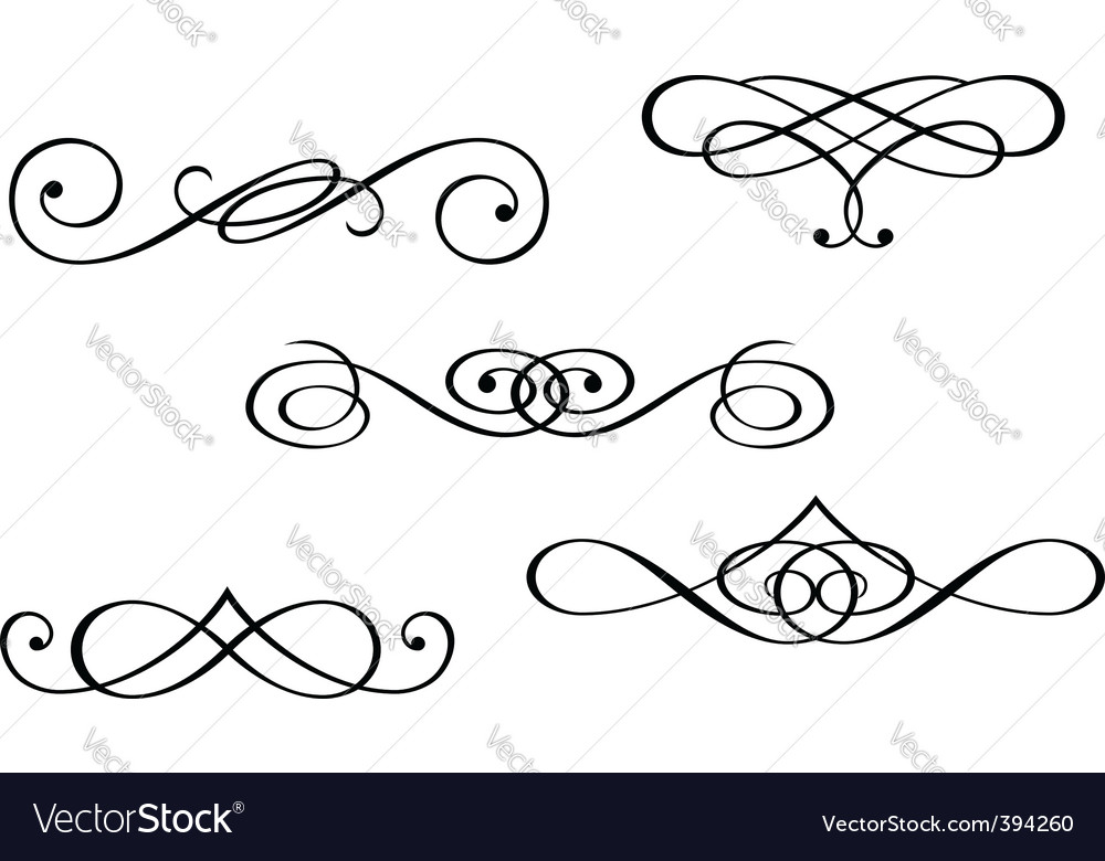 Monograms and swirl elements vector | Price: 1 Credit (USD $1)