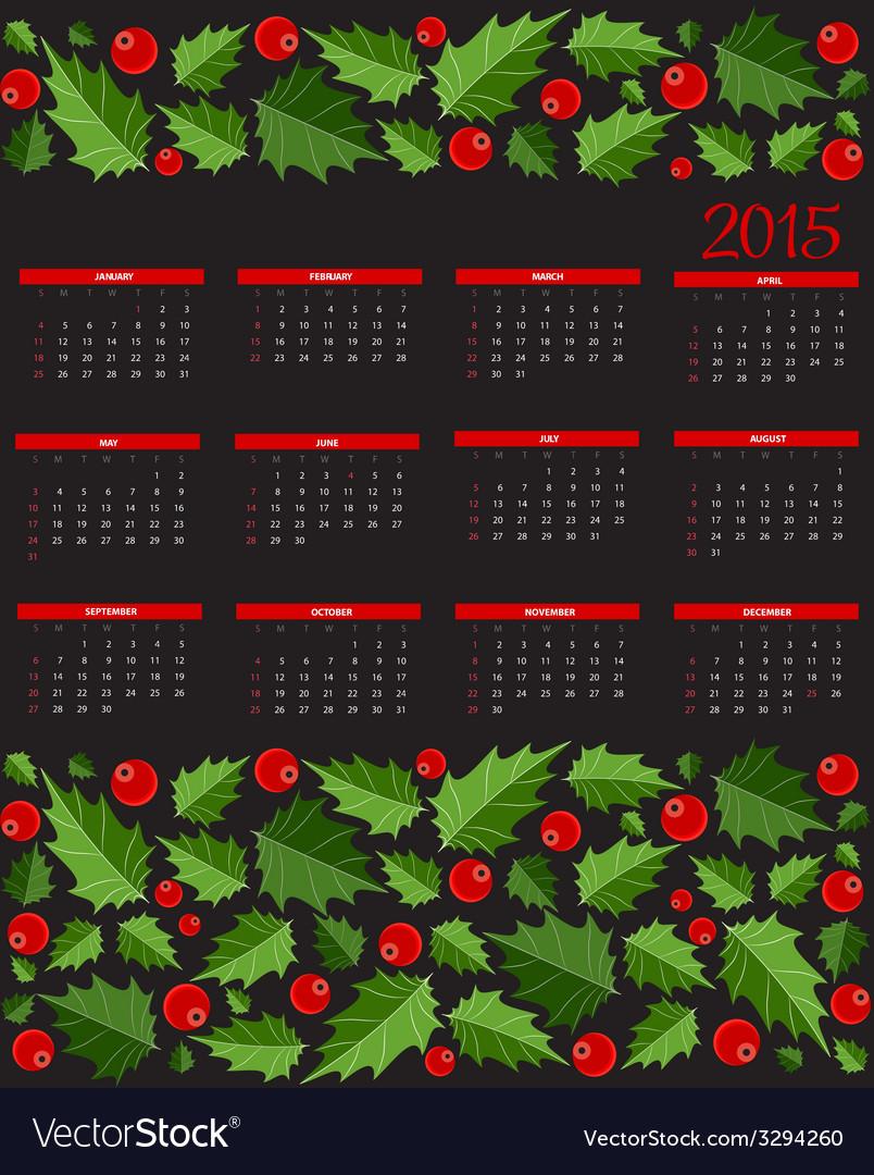New year 2015 calendar vector | Price: 1 Credit (USD $1)
