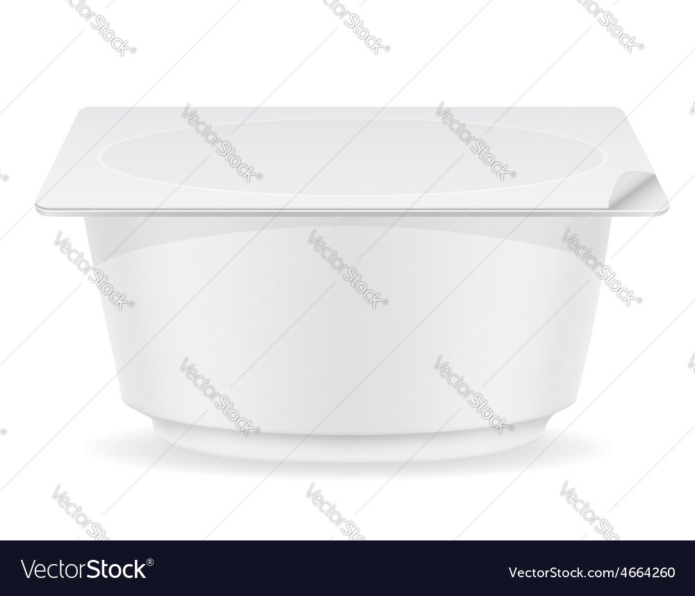 Plastic container of yogurt 04 vector | Price: 3 Credit (USD $3)