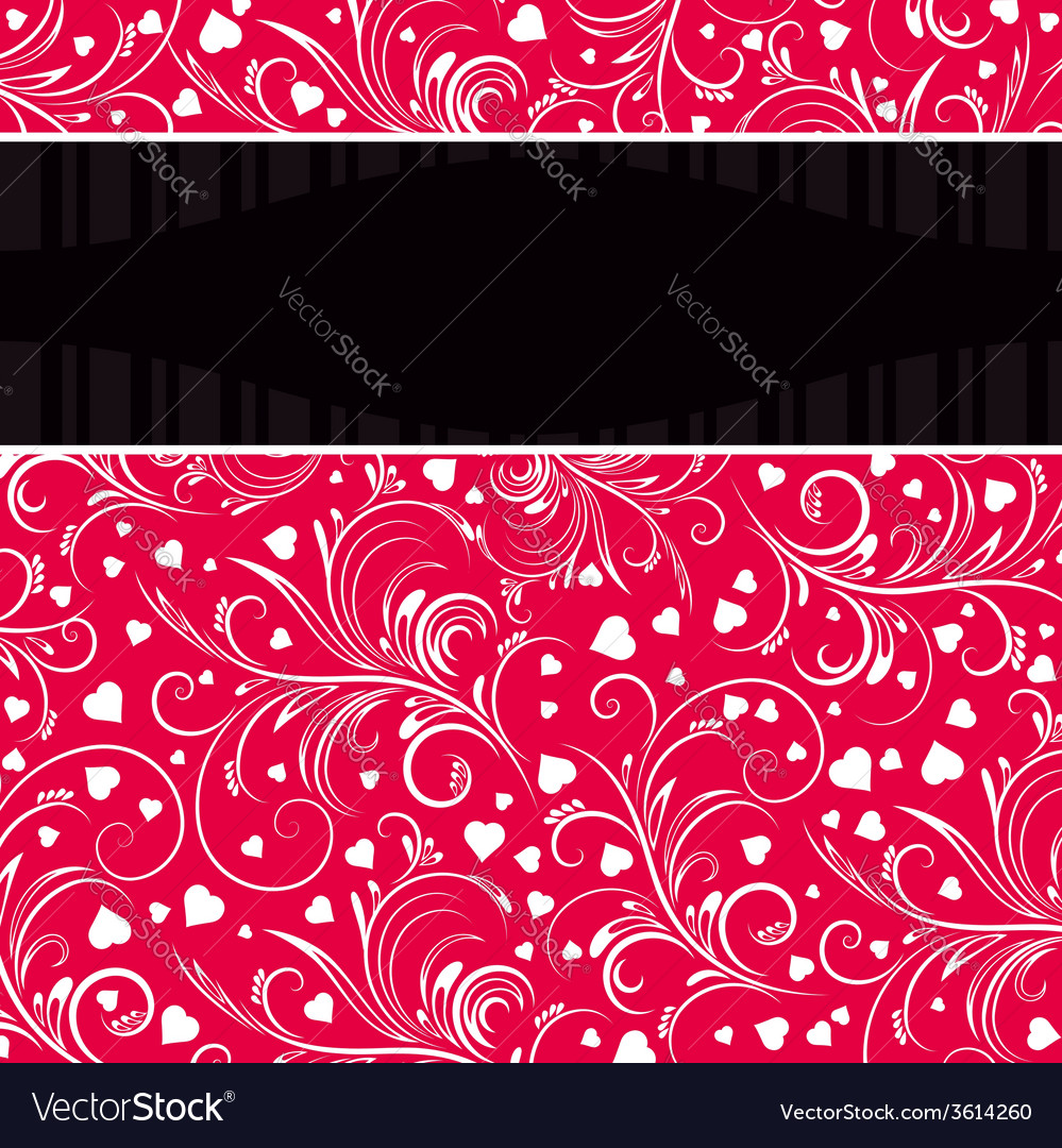 Red background with white decorative ornaments vector | Price: 1 Credit (USD $1)