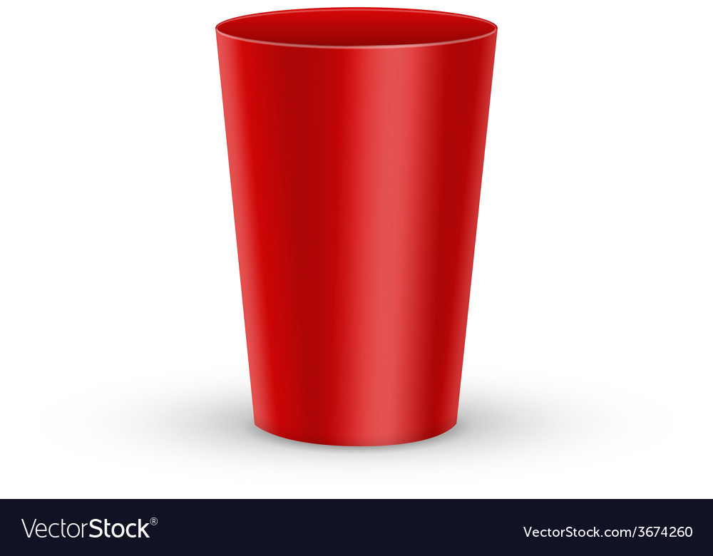 Red plastic glass vector   Price: 1 Credit (USD $1)