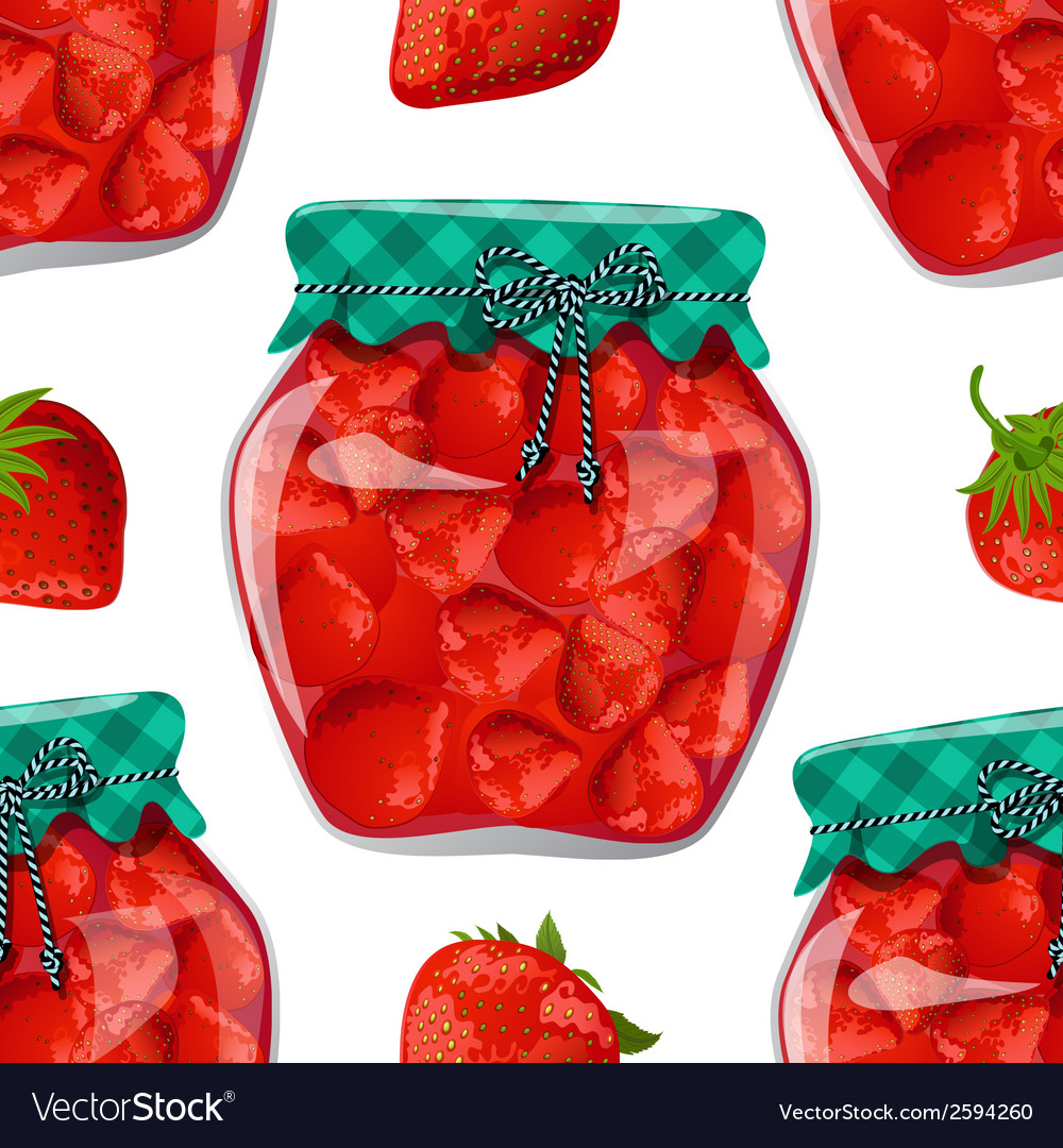 Seamless texture with preserve strawberry vector | Price: 1 Credit (USD $1)
