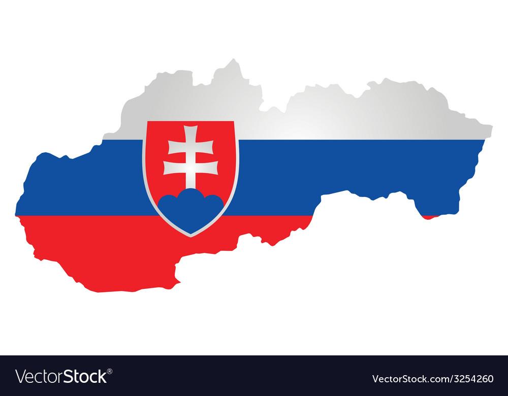 Slovakia flag vector | Price: 1 Credit (USD $1)