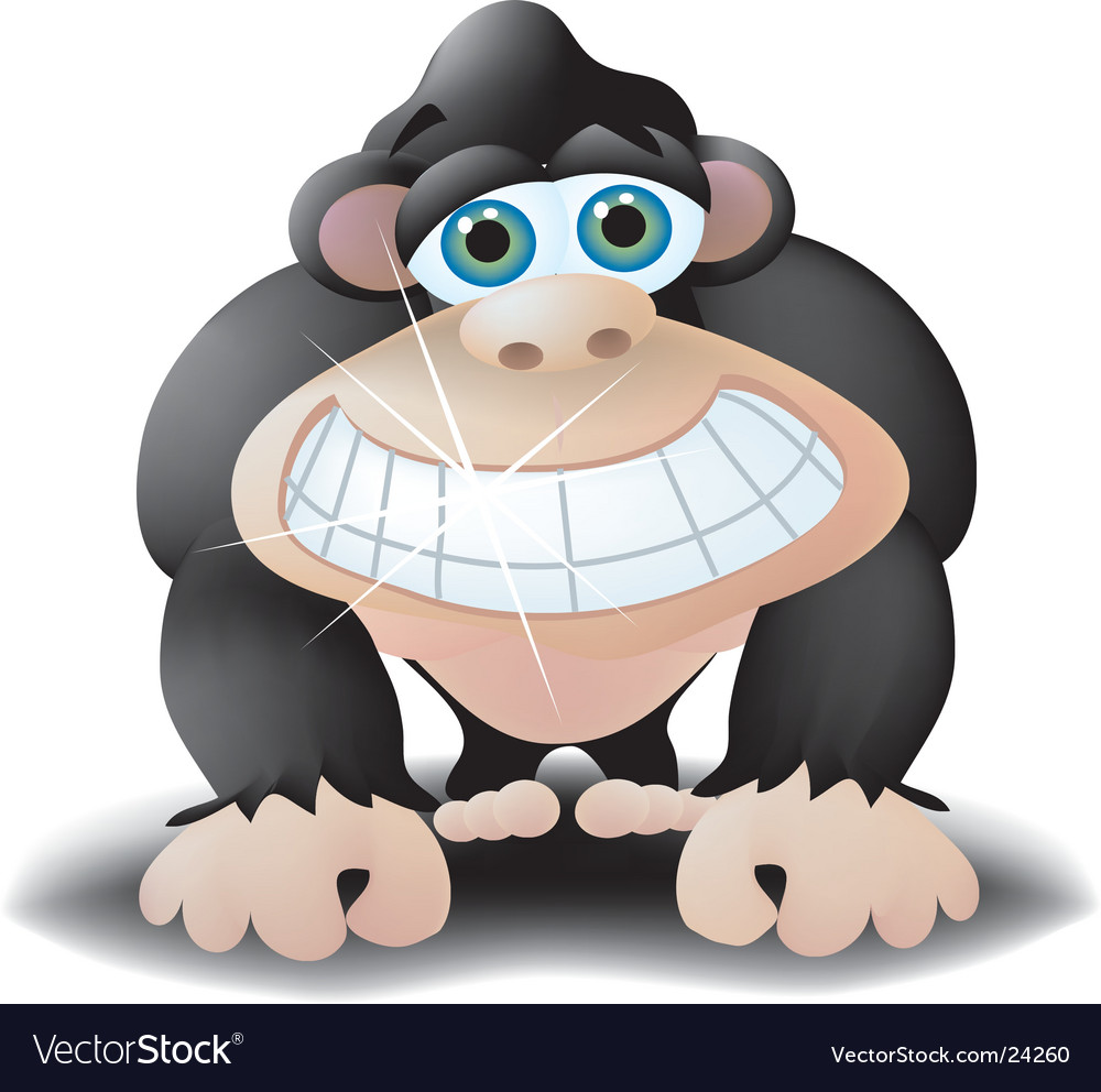 Smiling ape vector | Price:  Credit (USD $)