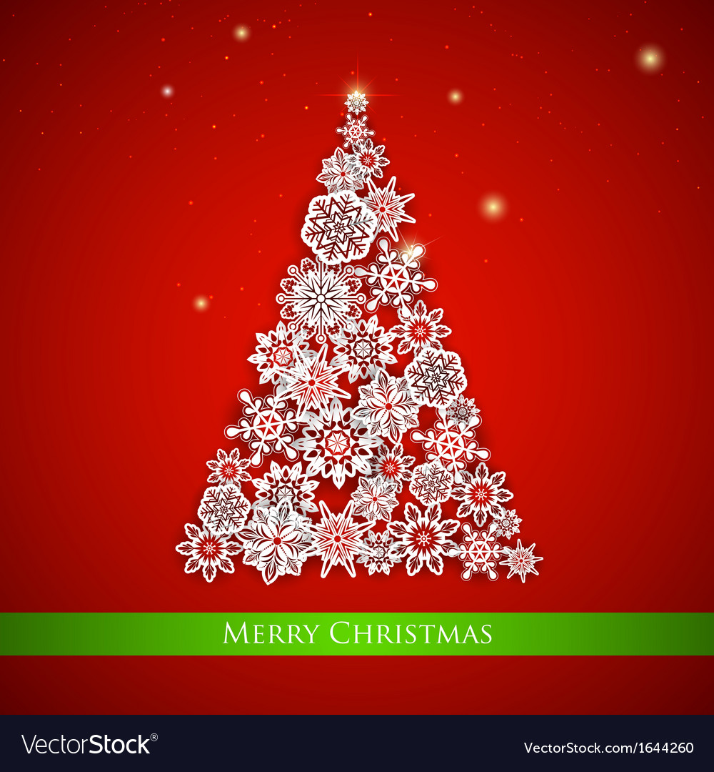 Snowflakes christmas tree vector | Price: 1 Credit (USD $1)