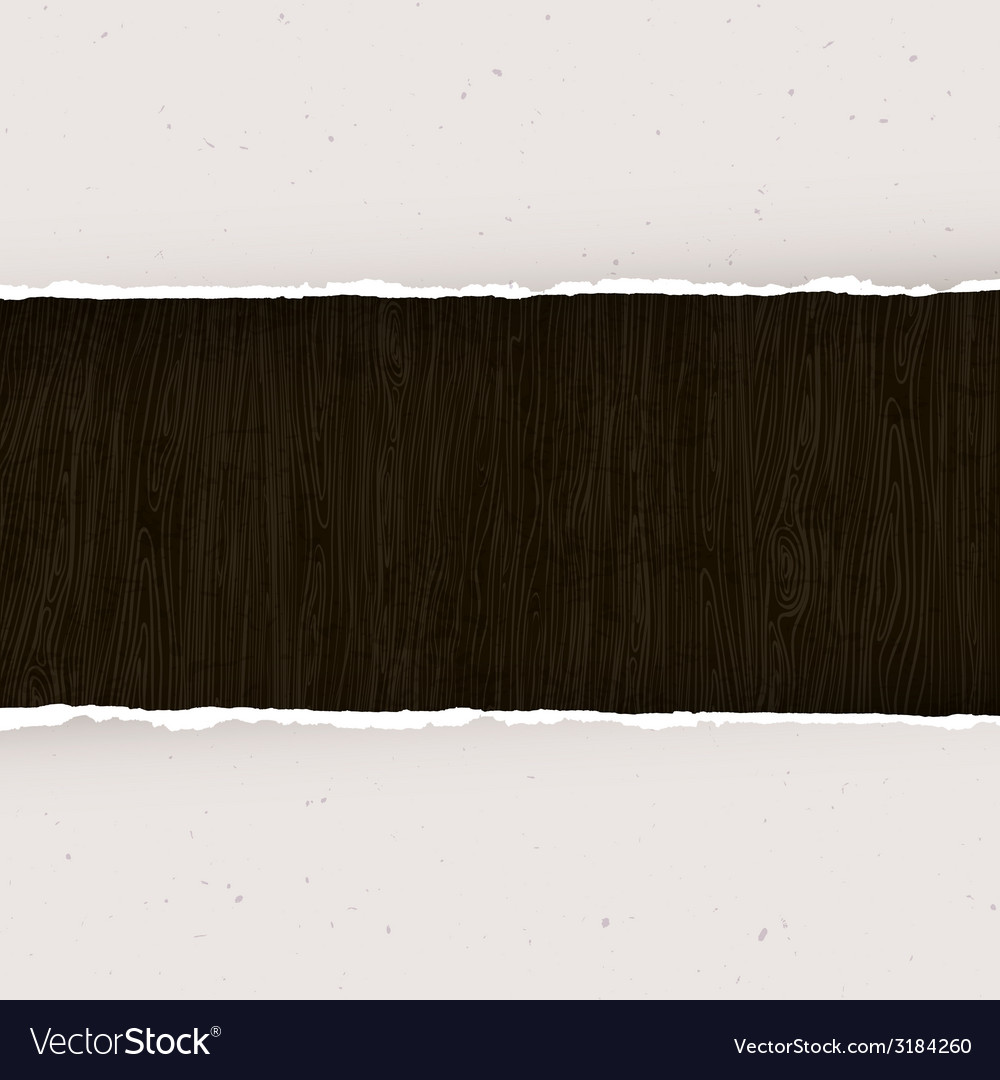 Torn paper on wooden background template vector | Price: 1 Credit (USD $1)