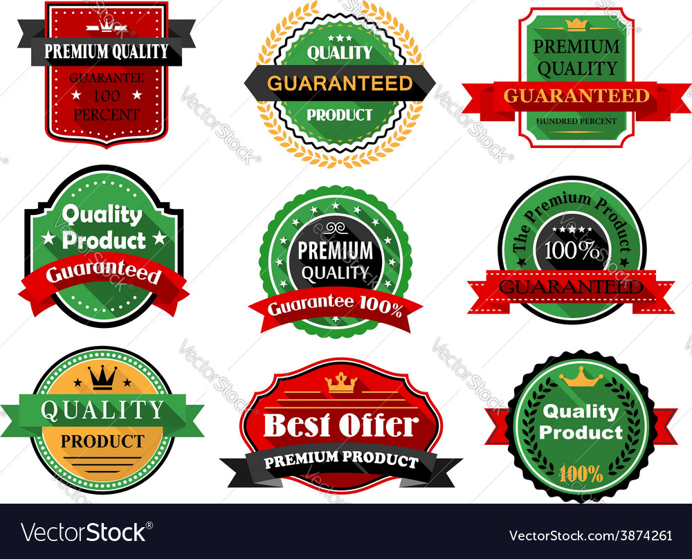 Best offer and quality product flat labels vector | Price: 1 Credit (USD $1)