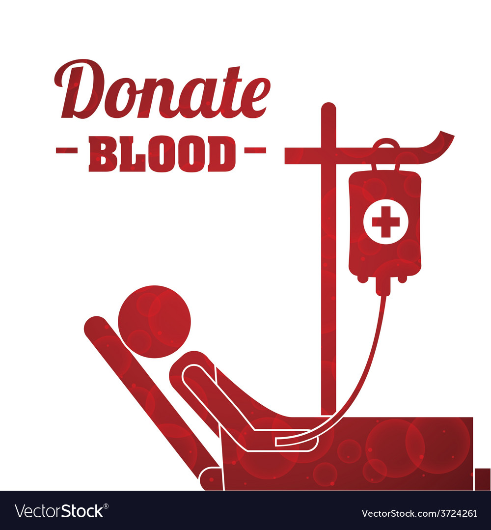 Donate blood vector | Price: 1 Credit (USD $1)