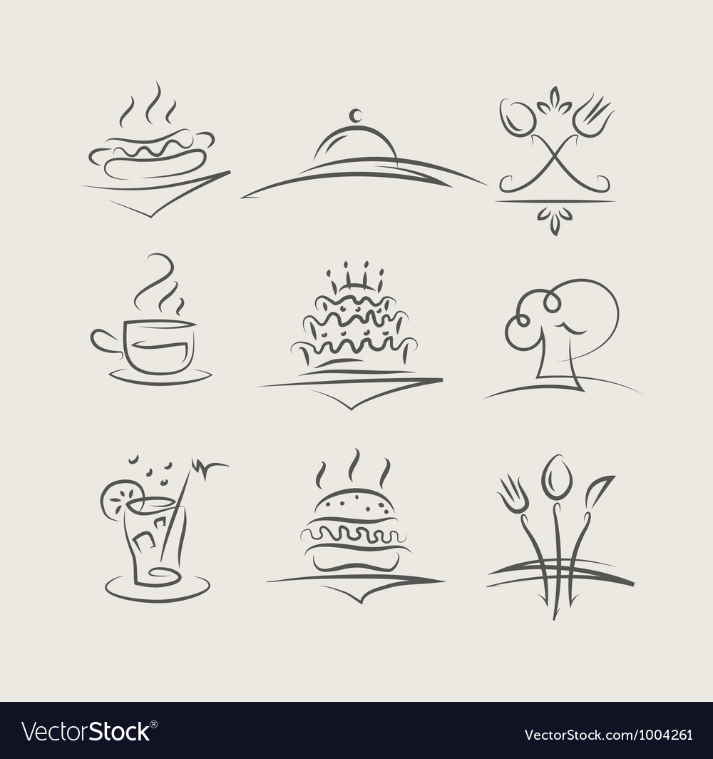 Food and utensils set of vector | Price: 1 Credit (USD $1)