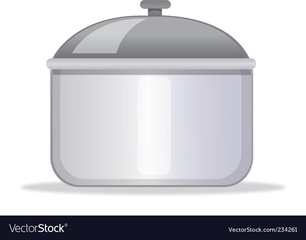 Kitchen pot vector | Price: 1 Credit (USD $1)