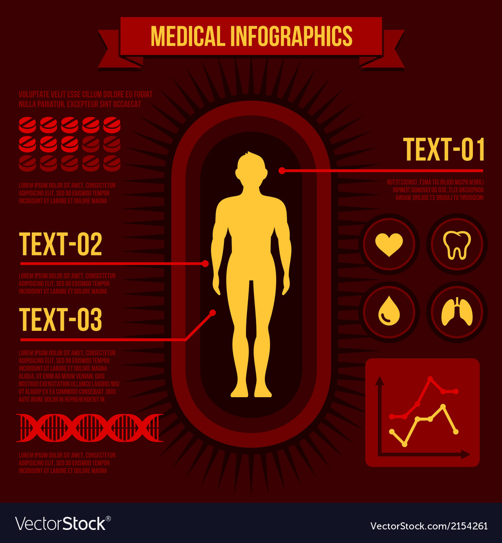 Medical infographics vector | Price: 1 Credit (USD $1)