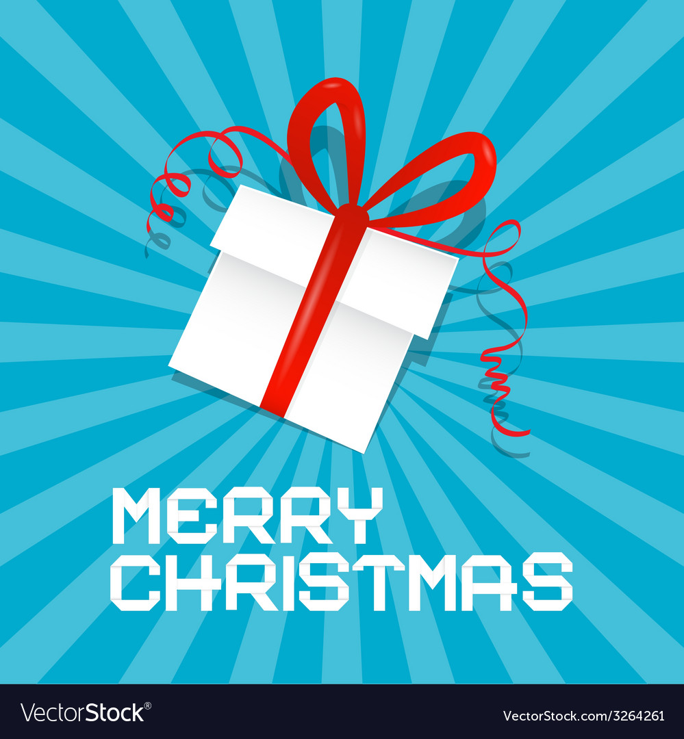 Merry christmas blue vector | Price: 1 Credit (USD $1)