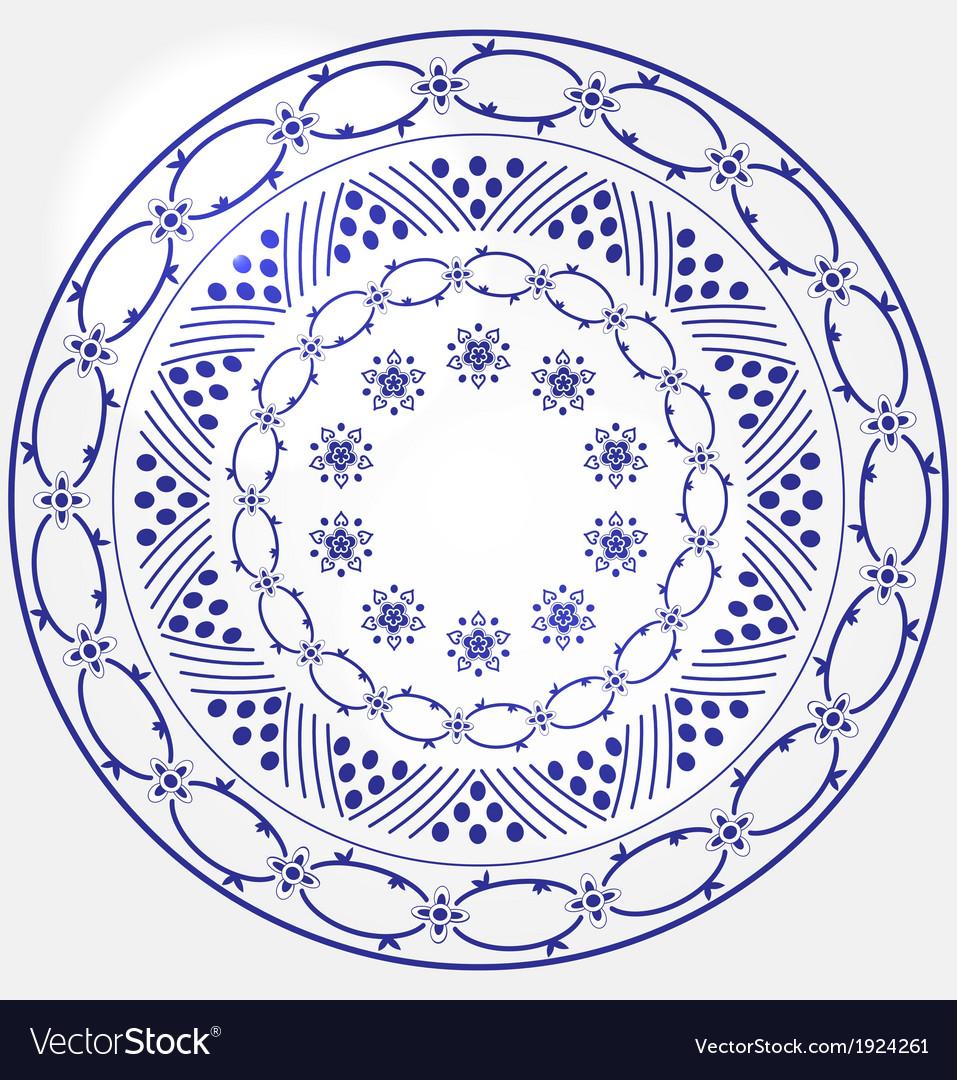 Monochrome circular design vector | Price: 1 Credit (USD $1)