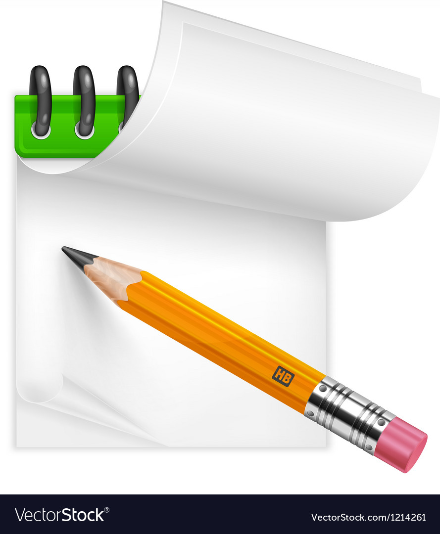 Pencil and notebook vector | Price: 3 Credit (USD $3)