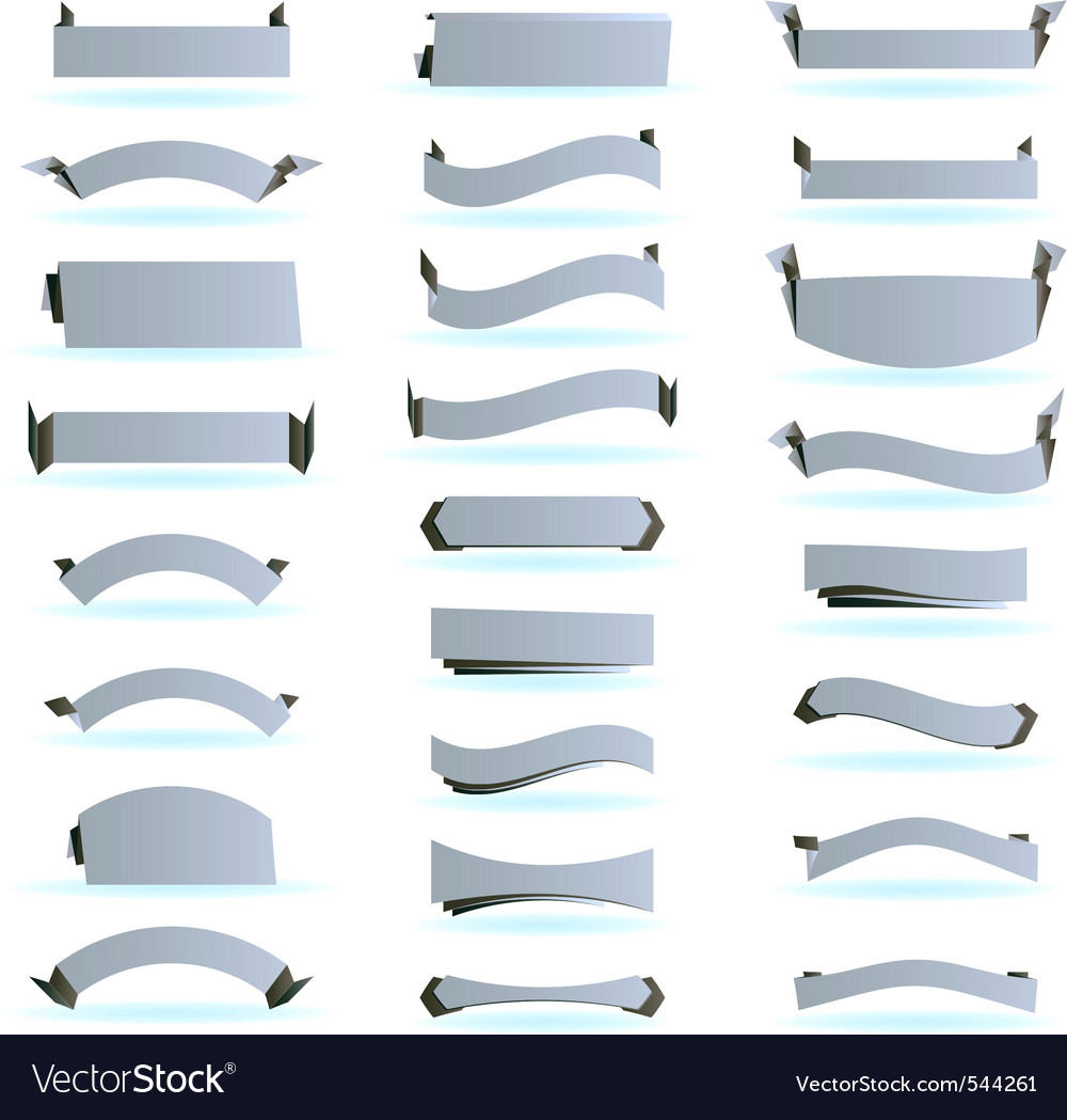Set of design ribbons banners vector | Price: 1 Credit (USD $1)