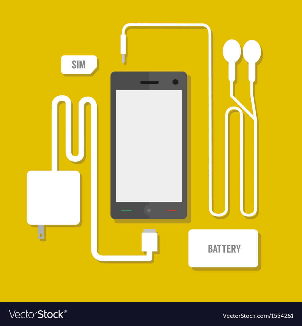 Smart phone set vector | Price: 1 Credit (USD $1)