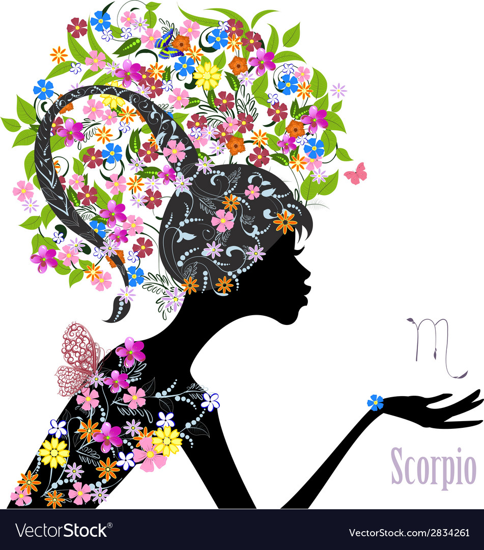 Zodiac sign scorpio fashion girl vector | Price: 1 Credit (USD $1)