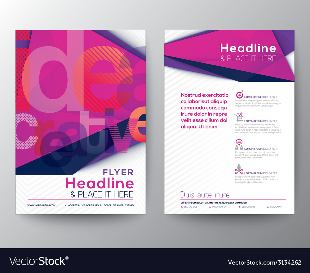 Abstract triangle brochure flyer design layout vector | Price: 1 Credit (USD $1)