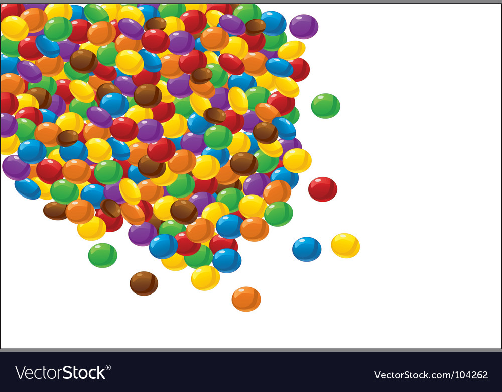 Chocolate candy background vector | Price: 1 Credit (USD $1)