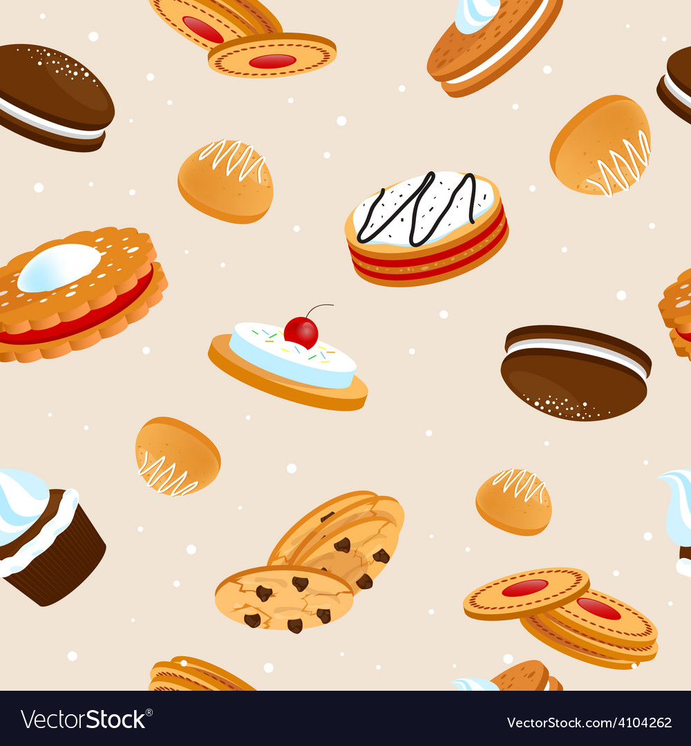 Cookies seamless pattern vector | Price: 1 Credit (USD $1)