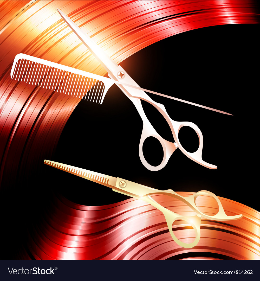 Hair and cutting scissors vector | Price: 1 Credit (USD $1)