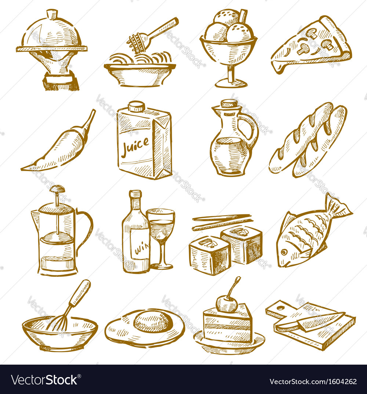 Hand drawn kitchen vector | Price: 1 Credit (USD $1)