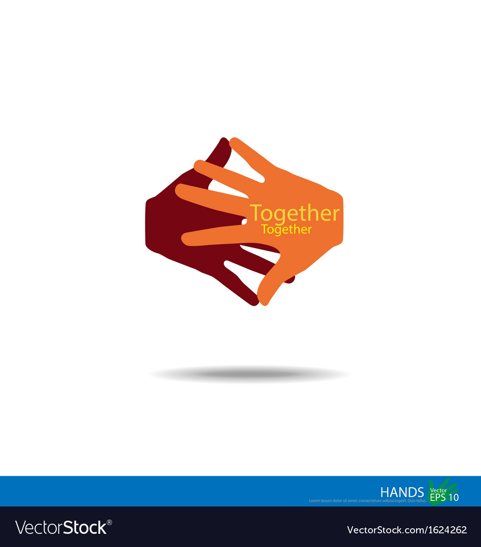 Handshake teamwork hands logo vector | Price: 1 Credit (USD $1)