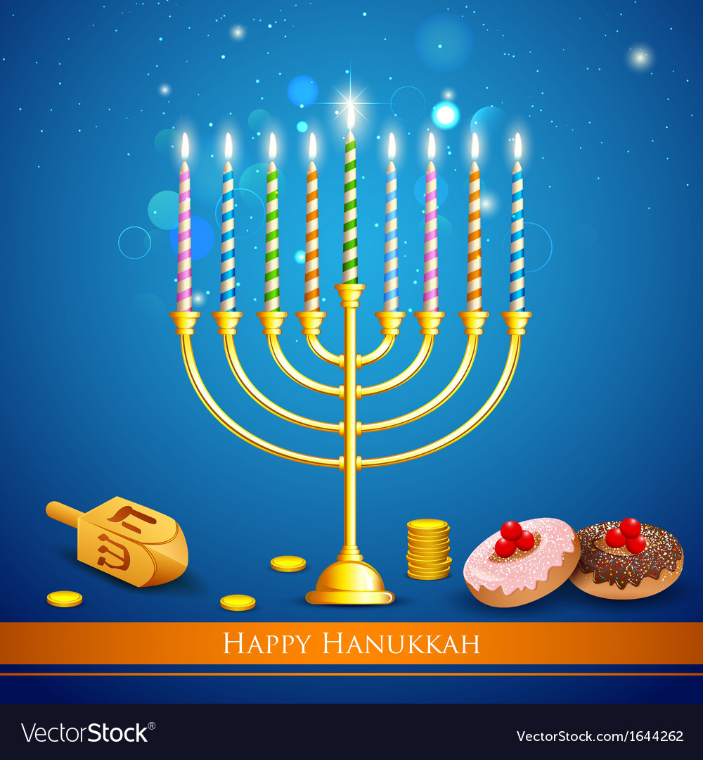 Hanukkah background vector | Price: 1 Credit (USD $1)