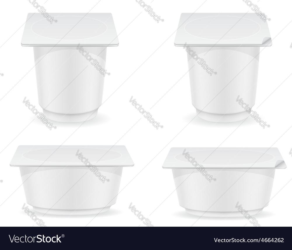 Plastic container of yogurt 05 vector | Price: 3 Credit (USD $3)