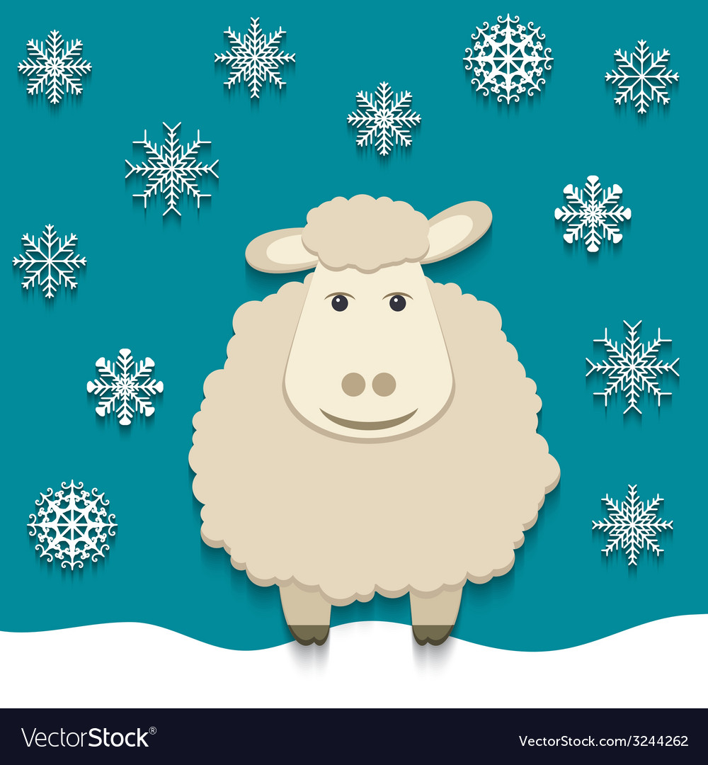 Sheep - symbol of 2015 vector | Price: 1 Credit (USD $1)
