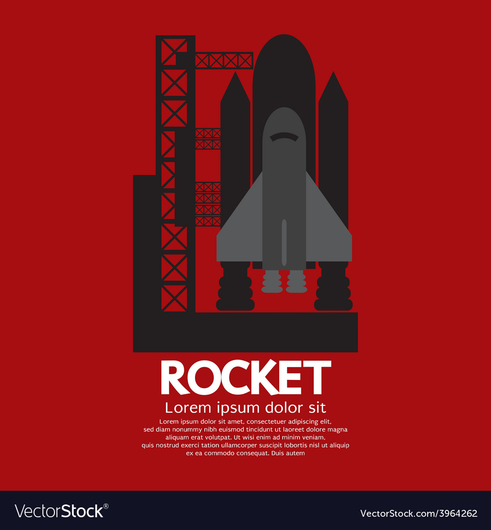 Single rocket taking off on a mission vector | Price: 1 Credit (USD $1)