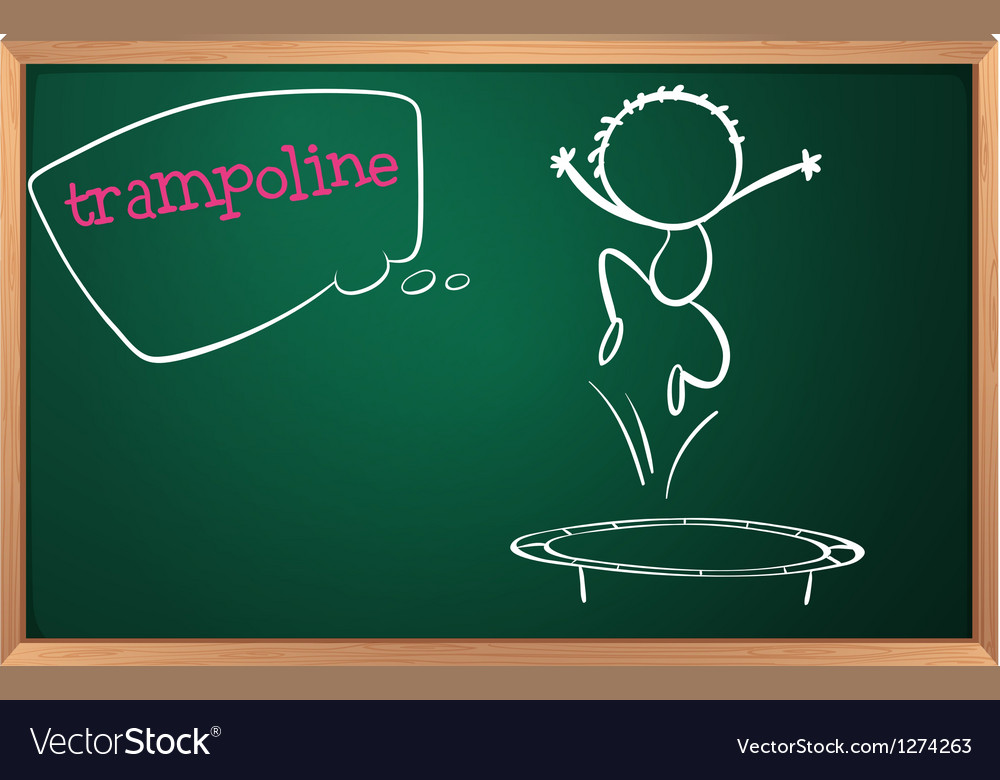 A blackboard with a trampoline vector | Price: 1 Credit (USD $1)