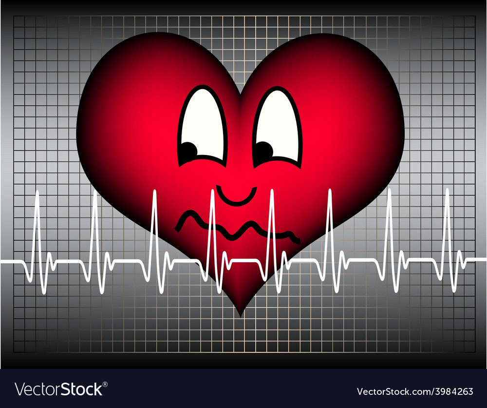 Anxious looking heart vector | Price: 1 Credit (USD $1)
