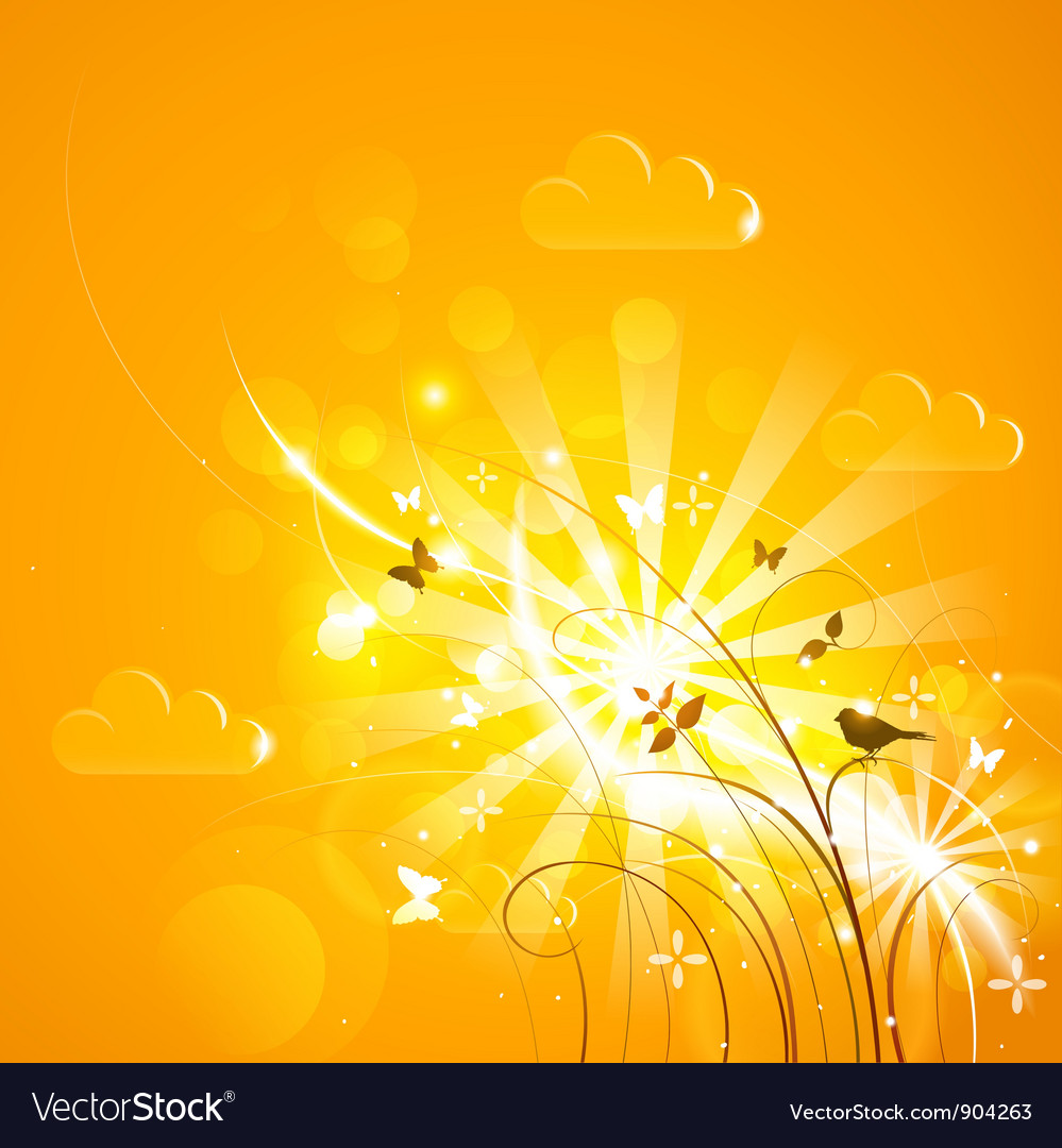 Bright sunny background vector | Price: 3 Credit (USD $3)