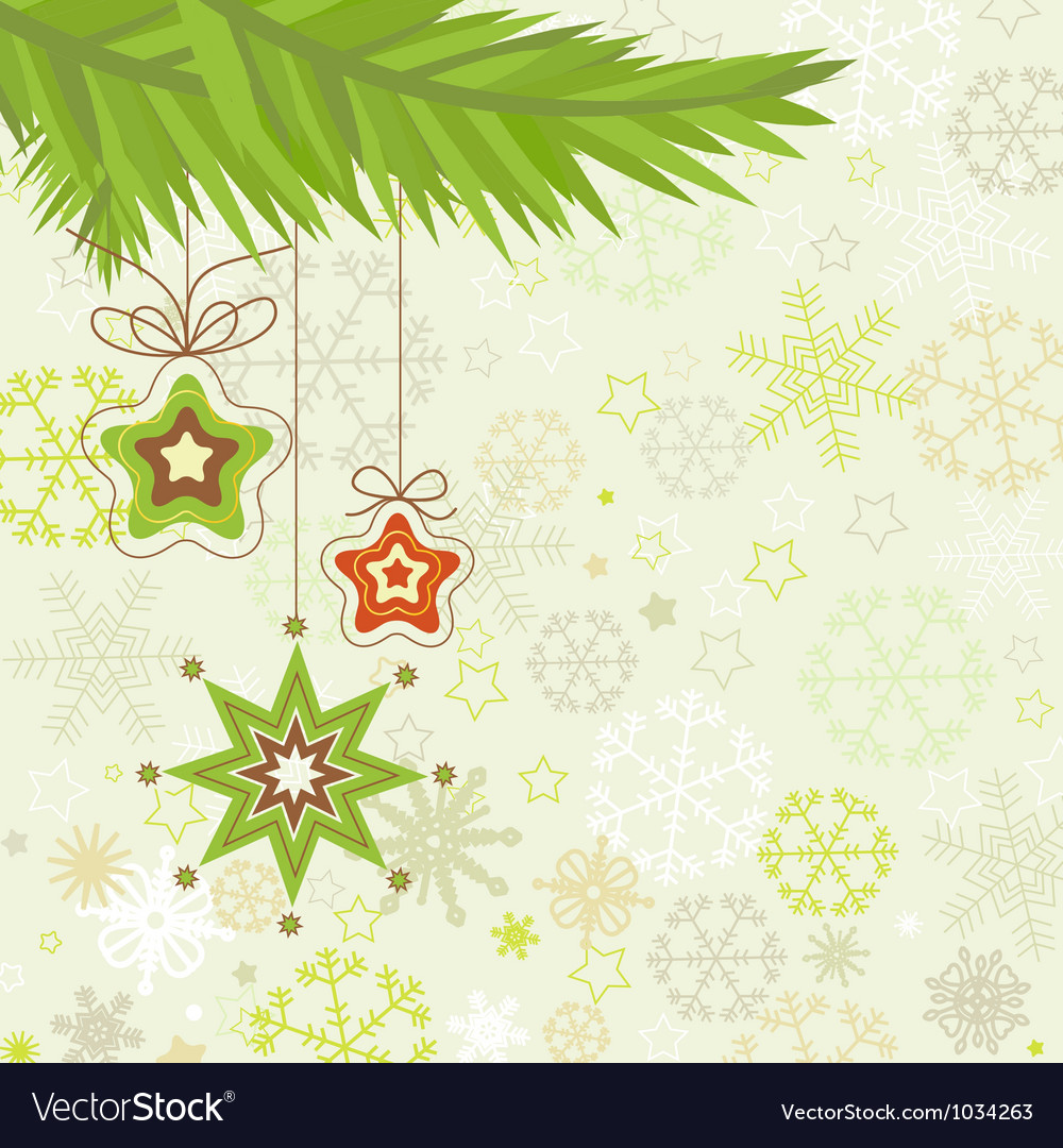 Christmas tree star ornaments vector | Price: 1 Credit (USD $1)