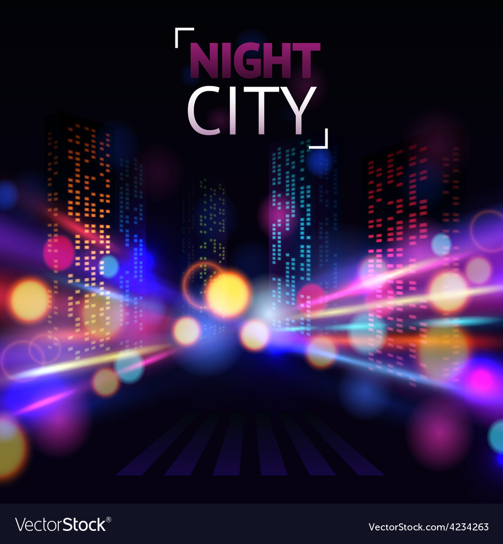 City blur background vector | Price: 1 Credit (USD $1)