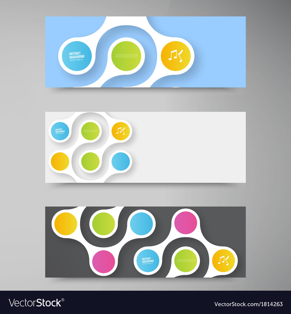 Color circles infographic color molecule vector | Price: 1 Credit (USD $1)