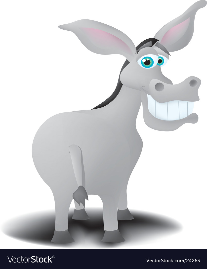 Donkey vector | Price:  Credit (USD $)